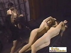 Mistress Tortures Two Girls In two shakes of a lamb's tail b together