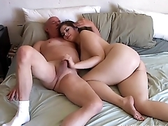 Big bosom beauty is a super sexy chubby honey