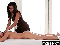 Sensual lesbian massage leads to orgasm 2