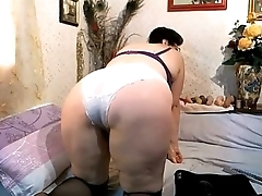 Hairy mature cambitch stripping and teasing. More at 747cams.com