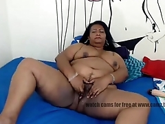 granny  cams Southern patriarch caramel tortures her hungry pussy lying
