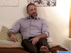 Mature bear cockridden wits mean bareback stud