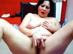 Abusive bbw mother masturbating her big we pussy on cam. More at 747cams.com