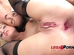 PMAO! Lindsey Logan &amp_ Maria Devine interraciall anal with DP, DAP &amp_ pee RS138
