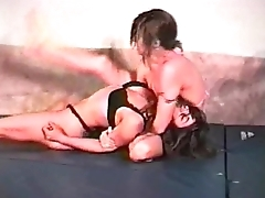 Nadine vs. Chaz - Competitive Female Wrestling at Catfight247