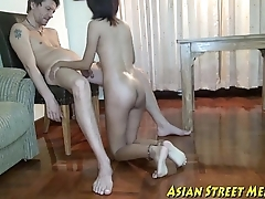 Asian Girlette Does Anal For Love Bossy Together with Good shape