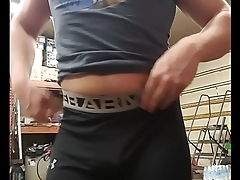 Hot big ass stripping and fingering
