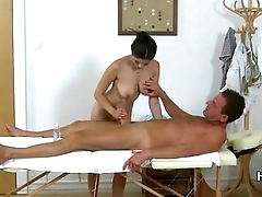 Exotic Asian Masseuse gives a Full Service Massage