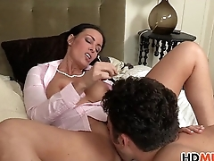 Vanilla Deville seduces stepdaughter April Oneil and BF