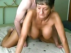 Fabulous busty granny gets fucked and creampied infront be beneficial to cam. More at 747cams.com
