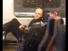 Guy caught jacking one out at Blackfriers