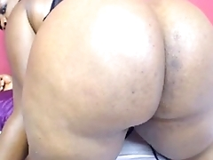 Ebony Bbw on Cam Spreading and Winking Her Fat Ass Booty