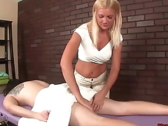 mean-Ticklish handjob