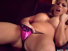 Busty Blonde Loves Ass Play