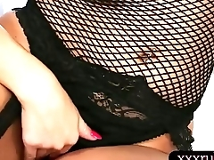 Big chest masseuse swallows warm cum