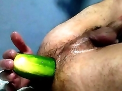 big cucumber and fist on my ass