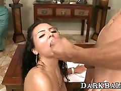 Interracial-Sex With Tantalizing Babe And BigBlackCock