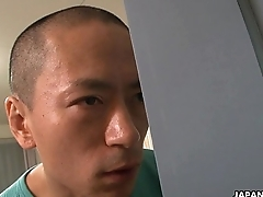 Asian sex junkie knick-knack fucks in the shower