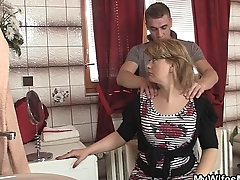 Girlfriends hot mom swallows big dick