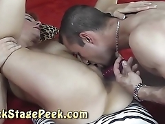 Czech redhead MILF gets her pussy splintered and dildo fucked