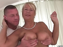 Naughty granny fucked infront of camera in hotel ground