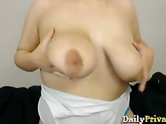 Sexy chubby Charlotte with humongous natural boobs