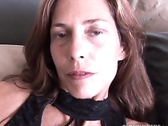 Super sexy slim old spunker masturbates &amp_ fucks the cameraman