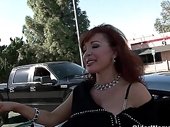 Venerable milf gets white-haired up from the parking lot and makes a porn movie