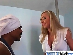 Interracial Sex With Nasty Housewife Riding Big Black Dick movie-14