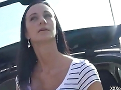 Gorgeous Czech amateur is paid cash to flash &amp_ fuck with reference to public 18
