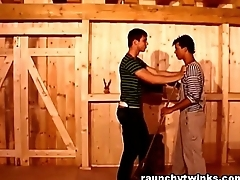 Barn Teens Move onward Gay And Do Reprobate Bareback Anal Fucking