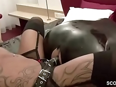 Femdom German Teen Fuck older Challenge and Piss on him