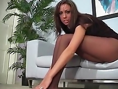 Tiffany Brookes pantyhose action
