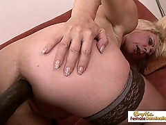 White granny fits a huge black cock in will not hear of asshole