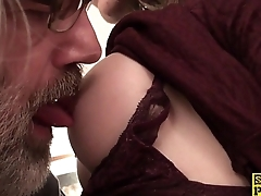 Real british sub takes allowance a a good down her throat