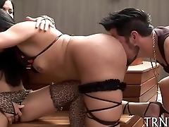 Shemale gets drilled and fisted