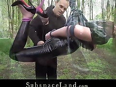 Full day exploitation of a bondage slave part 1 part 2