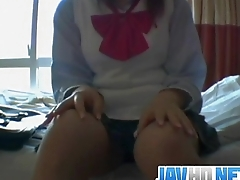 Untrained hardcore with schoolgirl Japanese Wakana