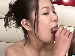 Kyoka Sono likes traffic two cocks in the same time
