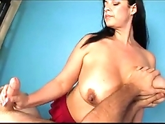 bbw busty girl big boobs handjob