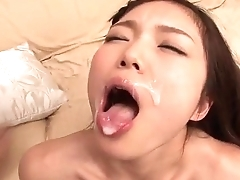 Megumi Shino blows cock while getting fucked hither toys